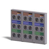 stock photo of supercomputer  - a historic science fiction computer or mainframe - JPG