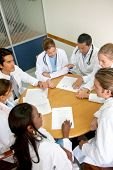 image of doctors office  - Group of doctors in a meeting at a hospital - JPG
