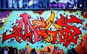 Graffiti tag thats red