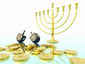 picture of dreidel  - Hanukkah celebration - JPG