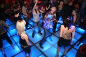 foto of night-club  - danse hall with dancing people in the night club - JPG