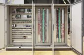 stock photo of plc  - Automation atex safety regulation electrical  panel board - JPG
