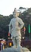 picture of lantau island  - Buddhist statues at Po Lin Monastery Lantau Island Hong Kong - JPG