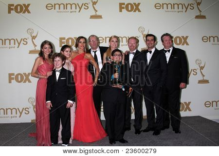 LOS ANGELES - SEP 18:  Modern Family Cast in the Press Room at the 63rd Primetime Emmy Awards at Nokia Theater on September 18, 2011 in Los Angeles, CA