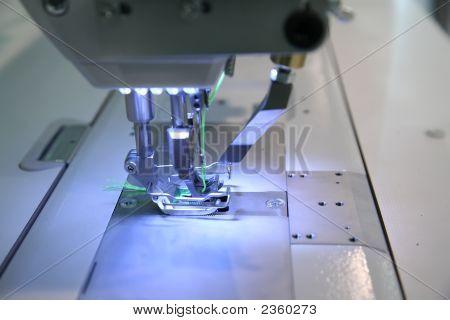 Close-Up Sewing Machine