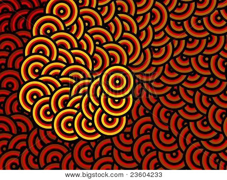 Hypnotic spiral background