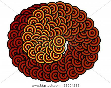 Hypnotic spiral snake background