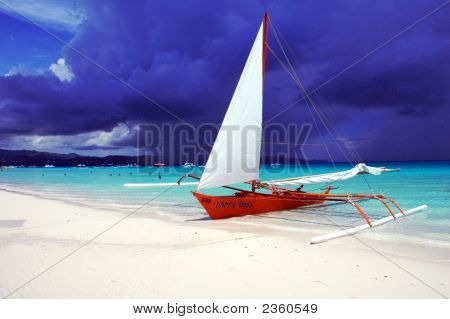 Gorgeous Beach Scene Boracay Philippines