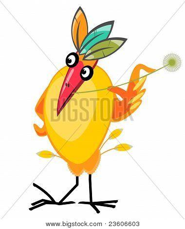 Exotic bird character