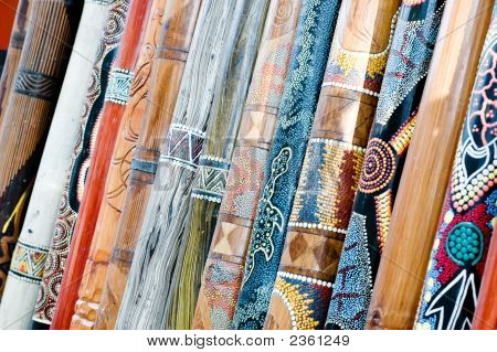 Didgeridoo'S On Display