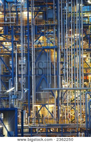 Oil Refinery Close-Up