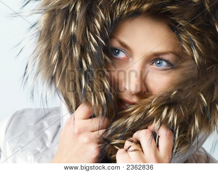 Girl With Fur Hood