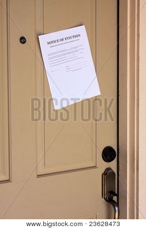 Eviction Notice On House Door