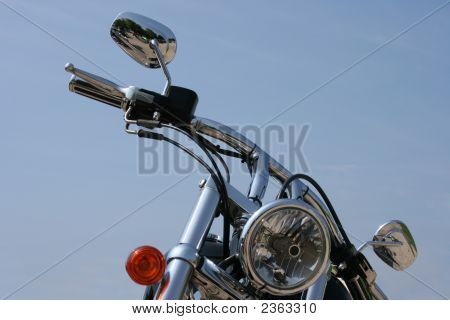 Chrome Motorbike Handlebars