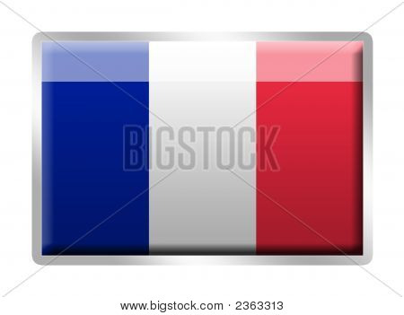 French Tricolore Flag Metal Enamelled Badge