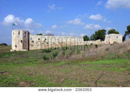Binar Bashi Ottoman Fortress In Antipatris (Tel-Afek), Israel