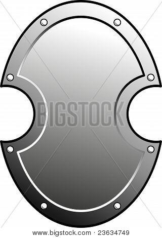 Metal heraldic shield