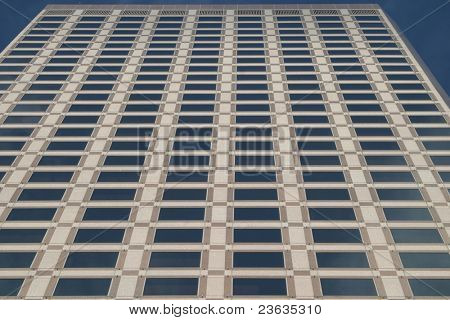 Skyscraper with a row of windows