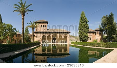 reflection pool Alhambra