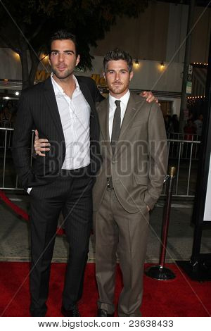 LOS ANGELES - SEP 19:  Zachary Quinto, Dave Annable arriving at the