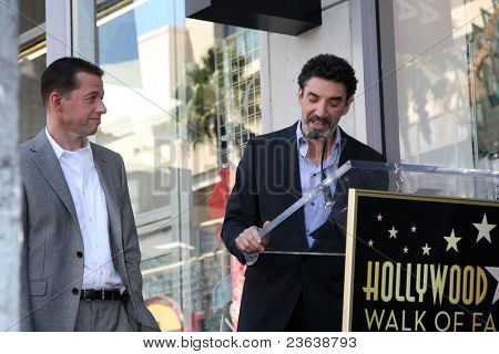 LOS ANGELES - SEP 19:  Jon Cryer, Chuck Lorre at the Jon Cryer Hollywood Walk of Fame Star Ceremony at Hollywood Walk of Fame on September 19, 2011 in Los Angeles, CA