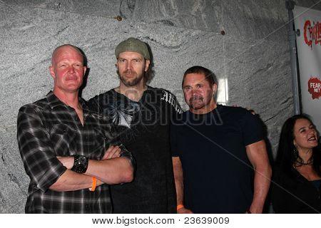 LOS ANGELES - SEP 15:  Derek Mears, Tyler Mane, Kane Hodder arrives at the