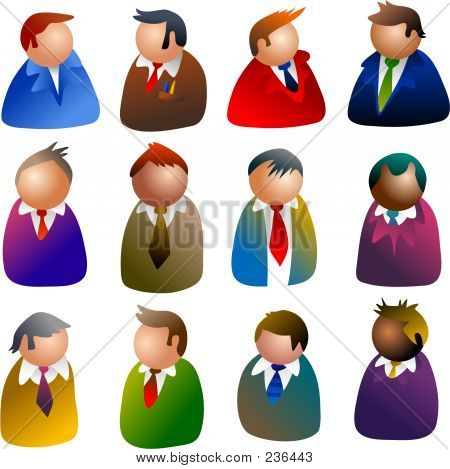 Ícones de executivos