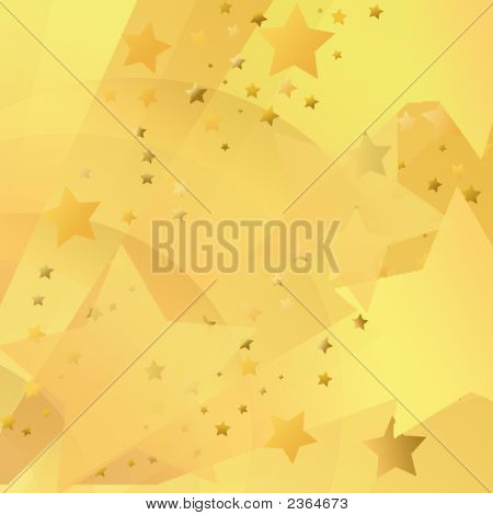 Gold Starburst Background