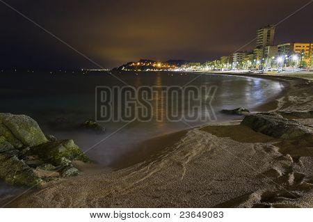 Lloret De Mar Beach Night Views