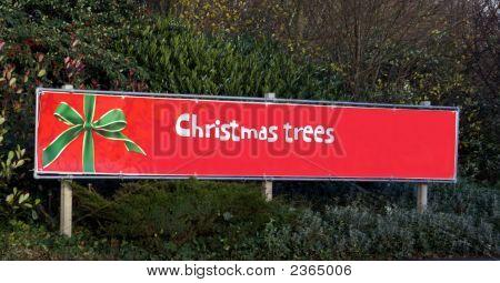 Sign. Christmas Trees.