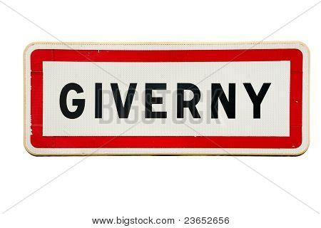 Giverny-Zeichen