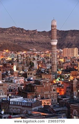 Sanaa. Morning View On The Old City