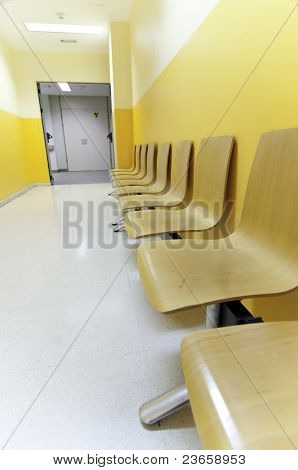 Krankenhaus-Korridor-Bild aus Spanien, Europa.
