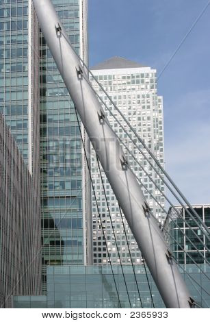 Modern Bridge Support At Canary Wharf