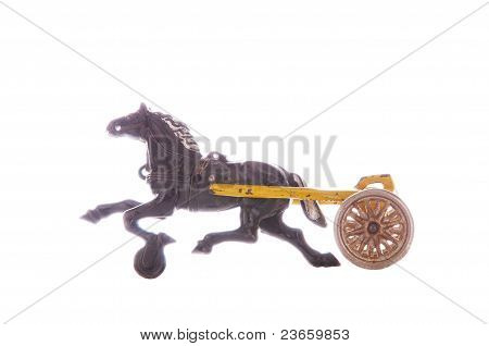 Antique Toy Sulky And Horse