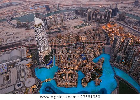 Bird's-eye Dubai View