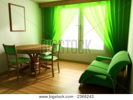 Interior In Light Tones Sofa Table Window
