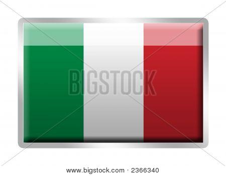 Italian Flag Metal Enamelled Badge