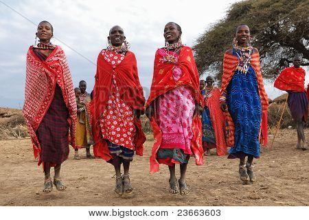 Dancing Masai Women