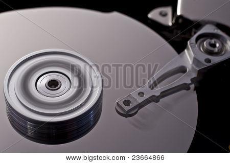 Hard Disk Drive In Motion  (zero-seven)
