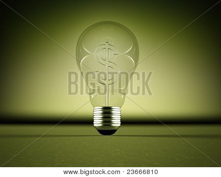 Light bulb and sollar sign