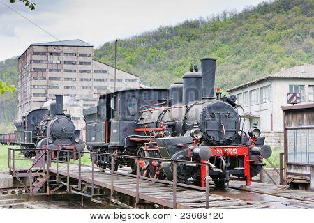 steam locomotives, Resavica, Serbia