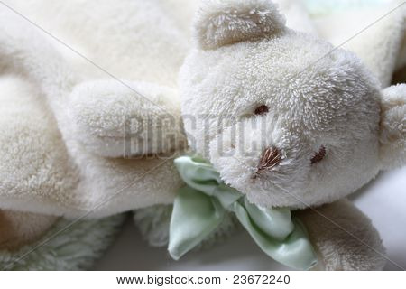 Soft bear lovey