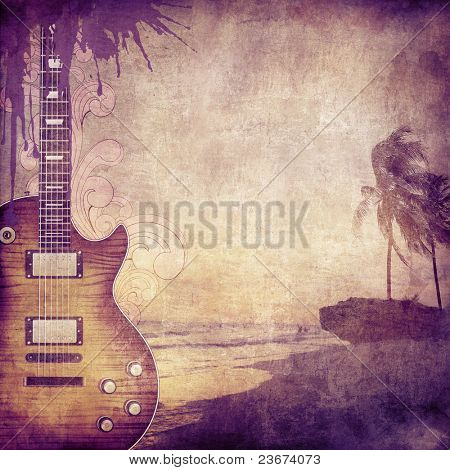 Old Paper. Retro Music Texture Background. Vector.