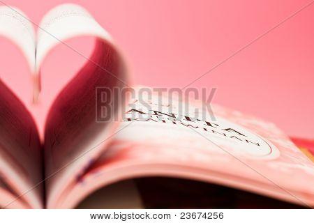 pink heart book