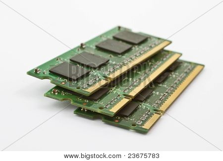 Three Stacked Memory Modules