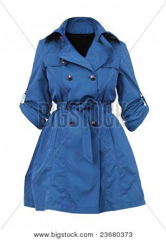 blue women coat