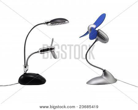 Two Desktop Fans