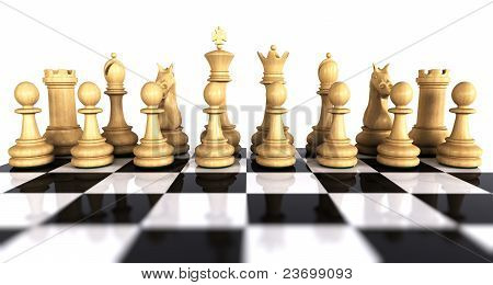 White Chess Game Pieces