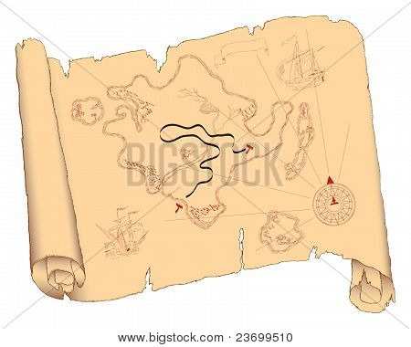 Island On An Old Scroll